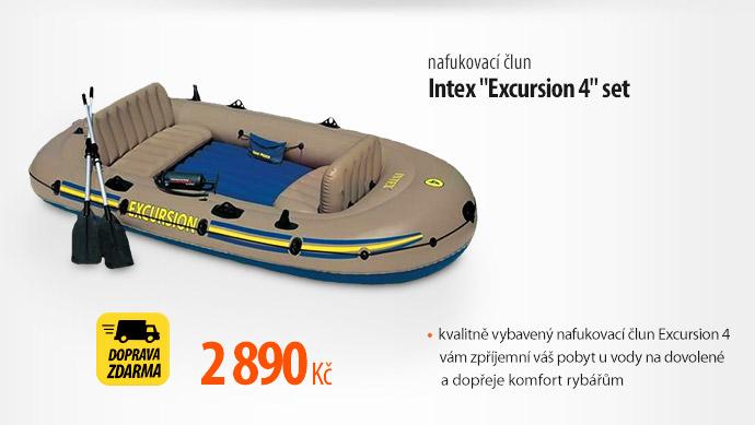 "Člun nafukovací Intex ""Excursion 4"" set"