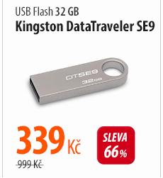 USB Flash Kingston DataTraveler SE9 32GB (DTSE9H/32GB) stříbrný