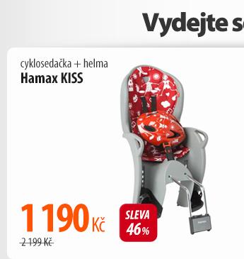 Cyklosedačka Hamax KISS + helma šedá/červená