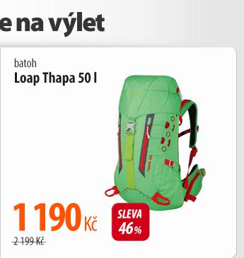 Batoh Loap Thapa 50l červený/zelený