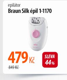 Epilátor Braun Silk épil 1-1170 bílý/růžový