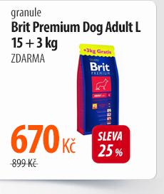 Granule Brit Premium Dog Adult L 15 + 3 kg ZDARMA
