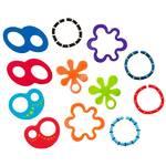 Kousací kroužky Bright Starts Oball, 12ks