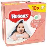 Obrúsky čistiace Huggies Soft Skin 10 x 56ks