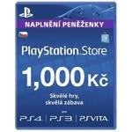 Karta pre-paid Sony PlayStation Live Cards 1000Kč -  PS Store - czeska (PS719894032)