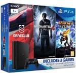 Konsola do gier Sony PlayStation 4 SLIM 1TB Family pack (PS719805465 ) Czarna