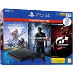 Konsola do gier Sony PlayStation 4 1 TB + Gran Turismo Sport + Uncharted 4 + Horizon Zero Dawn (PS719318804)