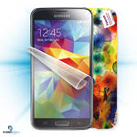 Ochranná fólia Samsung ScreenShield fólie na displej + skin voucher (včetně poplatku za dopravu k zákazníkovi) pro Samsung Galaxy S5 G900 (SAM-G900-ST)