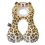 Detský nákrčník s opierkou hlavy BenBat 1-4 roky - leopard biely/žltý
