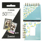 Papier fotograficzny Canon ZP-2030, 50 x 76mm, 50ks, pro Zoemini + fotoalbum + stojánek (3215C007)