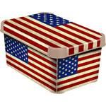 Skrzynka / organizer Curver Decoboxes Stockholm American Flag rozmiar  S
