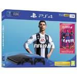 Konsola do gier Sony PlayStation 4 SLIM 1TB + FIFA 19 + DualShock 4 (PS719752110) Czarny