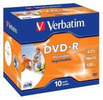 Dysk Verbatim DVD-R 4.7GB, 16x, do nadruku, 10 szt. (43521)