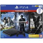 Konsola do gier Sony PlayStation 4 1 TB + Horizon: Zero Dawn + The Last of Us + Uncharted 4 A Thief's End (PS711719931508) Czarna
