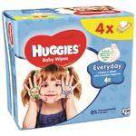 Obrúsky čistiace Huggies QUATRO Pack Every 4x56ks