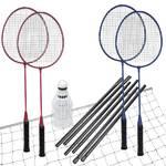 Badminton set Spokey Fun Start červený/modrý