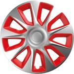 """Pokrywa koła Versaco Stratos silver/red 14"""" sada 4ks (20018)"""
