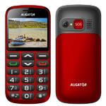 Mobilný telefón Aligator A870 GPS Senior + stojánek (A870GPR) červený