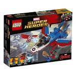 Zestawy LEGO® SUPER HEROES™ SUPER HEROES 76076 Odrzutowiec Kapitana Ameryki