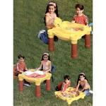 Stolik dla dzieci Marian Plast do zabaw, z piaskownicą + zakrycie