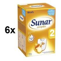 Kojenecké mléko Sunar Complex 2, 600g x 6ks