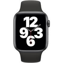 Inteligentné hodinky Apple Watch SE GPS 44mm pouzdro z vesmírně šedého hliníku - černý sportovní náramek (MYDT2VR/A)
