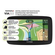 Navigační systém GPS Tomtom VIA 53 Europe LIFETIME mapy (1AL5.002.00) černá