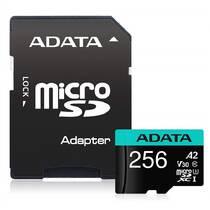 Paměťová karta ADATA Premier Pro MicroSDXC 256GB (100R/80W) + adaptér (AUSDX256GUI3V30SA2-RA1)