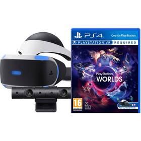 Sony PlayStation VR + kamera + VR Worlds (PSN voucher) (PS719782612)