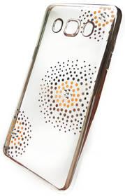 Kryt na mobil Beeyo Flower Dots pro Samsung Galaxy J5 (2016) (BEASAGAJ52016TPUFLSI) strieborný