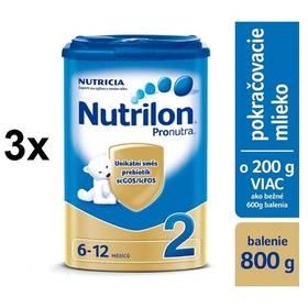 Nutrilon 2 Pronutra, 800g x 3ks + DARČEK