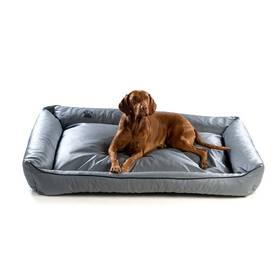 Argi pro psa obdélníkový EKO kůže - 100x80 cm / snímatelný potah šedý + Doprava zdarma