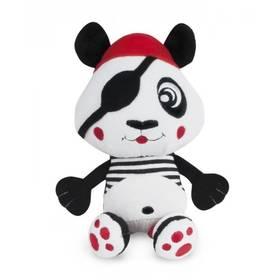 Canpol babies Pirates, plyšová vibrační panda černé/bílé/červené