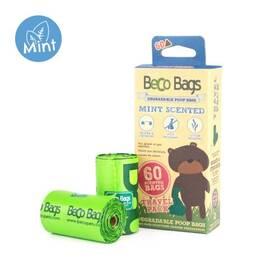 BecoPets Beco Bags Mint Travel 60 ks (4 x 15ks)