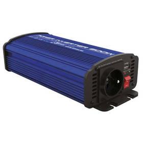 EMOS do auta 12V/230V, 600W, USB 2100mA (N0037)