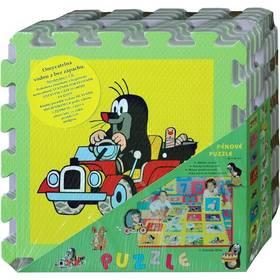 Penové puzzle HM Studio Krtek 30x30 cm, 8ks auto