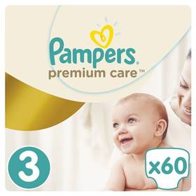 Pampers Premium Care Midi vel. 3, 60 ks