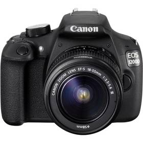 Digitálny fotoaparát Canon EOS 1200D černý + 18-55 DC + 8GB (334658) čierny