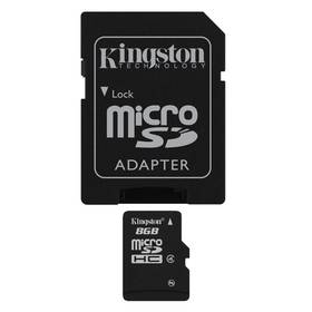 Kingston MicroSDHC 8GB Class4 + adapter (SDC4/8GB)