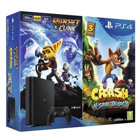 Sony PlayStation 4 SLIM 500GB + Crash Bandicoot + Ratchet & Clank (PS719867364) černá + Doprava zdarma