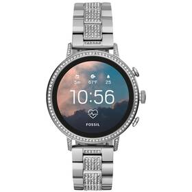 Fossil Venture HR - Silver Stainless Steel (FTW6013)