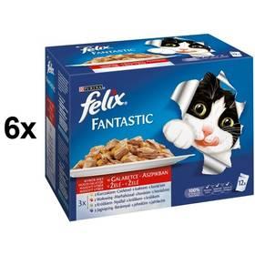 Felix Fantastic masový výběr 6 x (12 x 100g)