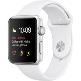 Apple Watch Series 1 42mm pouzdro ze stříbrného hliníku – bílý sportovní řemínek (MNNL2CN/A) + Doprava zdarma