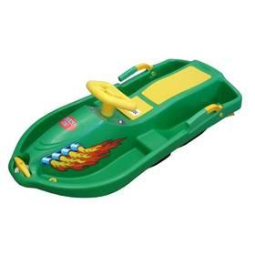 Acra Snow Boat plastové řiditelné zelené + Reflexní sada 2 SportTeam (pásek, přívěsek, samolepky) - zelené v hodnotě 58 Kč