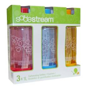 Fľaša SodaStream TriPack ORANGE/RED/BLUE