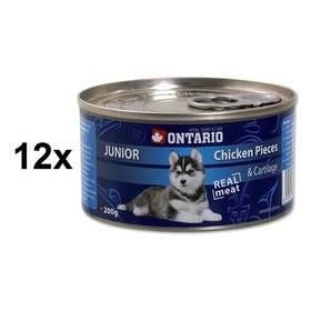 Ontario Junior kuřecí kousky a chrupavky 12 x 200g