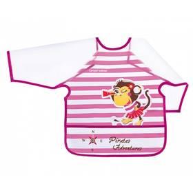 Canpol babies Piráti plastový s rukávy +24m ružový