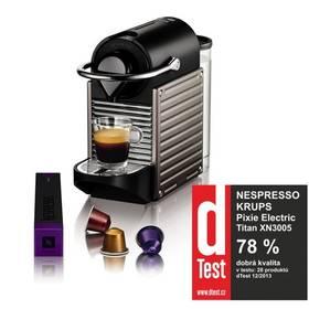 Krups Nespresso Pixie XN3005 černé/šedé