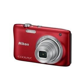 Nikon Coolpix S2900 + 4GB SD pam.karta + pouzdro červený