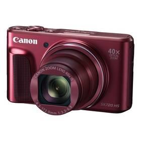 Canon PowerShot SX720HS (1071C002) červený Paměťová karta Kingston MicroSDHC 16GB UHS-I U1 (45R/10W) + adapter (zdarma) + Doprava zdarma